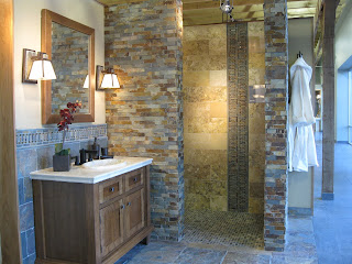 Rustic Slate Bathroom The Tile Shop Design by Kirsty