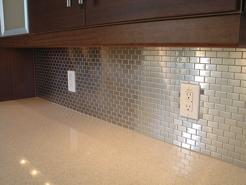 Stainless steel backsplashes Kitchen backsplash ideas stainless steel