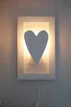 Hjärtlampa 50 x 30 cm