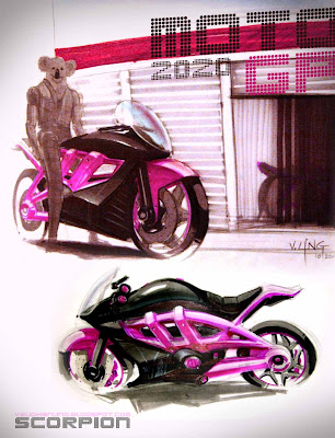 Moto GP - little pink bike