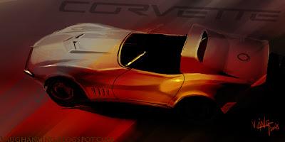 Robo holder + 68 Corvette