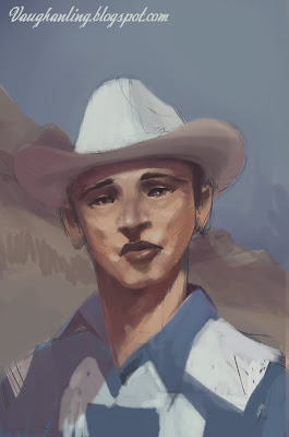cowboys are always either jolly or angry or gay so here s a sad cowboy