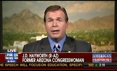 JD Hayworth: Former Arizona Congresswoman, according to Fox News