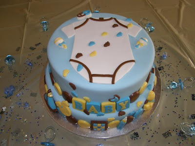 smandacakes onsie baby shower cake boy