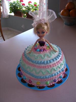 Barbie Doll Birthday Cake Noelle O Designs