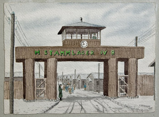 Stalag IV-B; F. McGregor watercolour