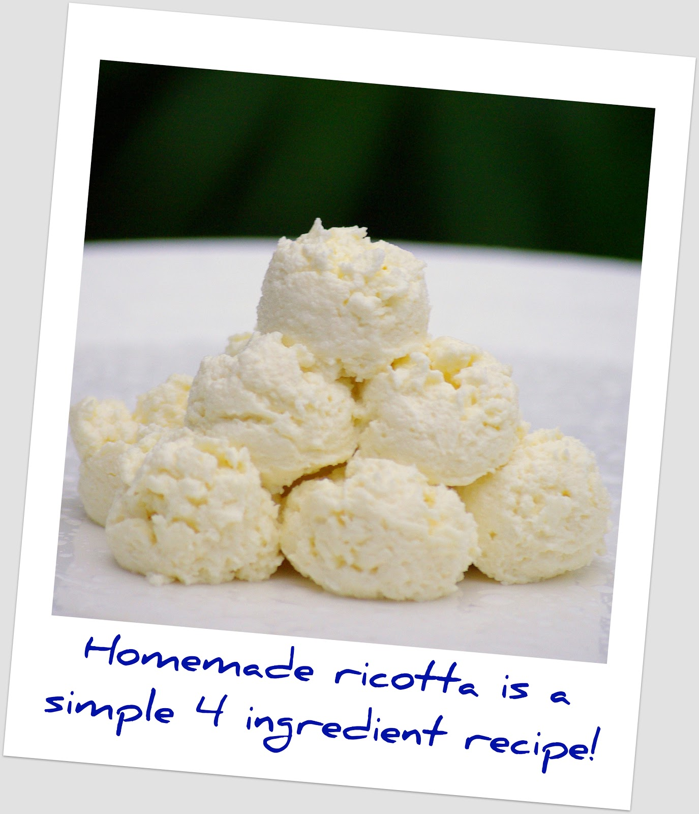 Within the Kitchen: How to Make Ricotta Cheese