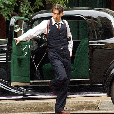 Johnny Depp Hairstyle In Public Enemies. Johnny Depp Haircut in Public