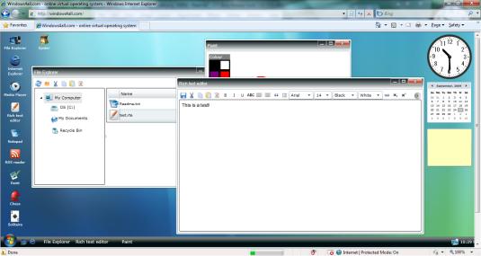 Mencoba OS Windows Vista di dalam Browser 3