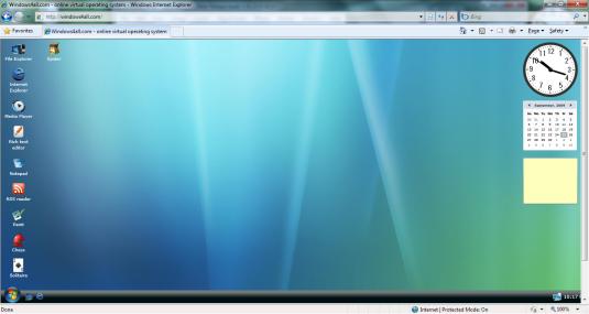 Mencoba OS Windows Vista di dalam Browser 2