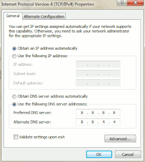 Setting DNS TCP/IP Properties