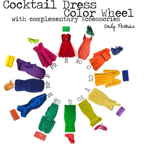 Fashion Addict Cocktail Dress Color Wheel