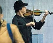 A Violinist in the Metro