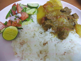 beef curry with green papaya/green papaya curry
