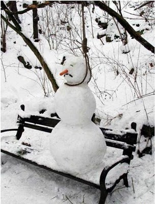 Frustrated Snowman