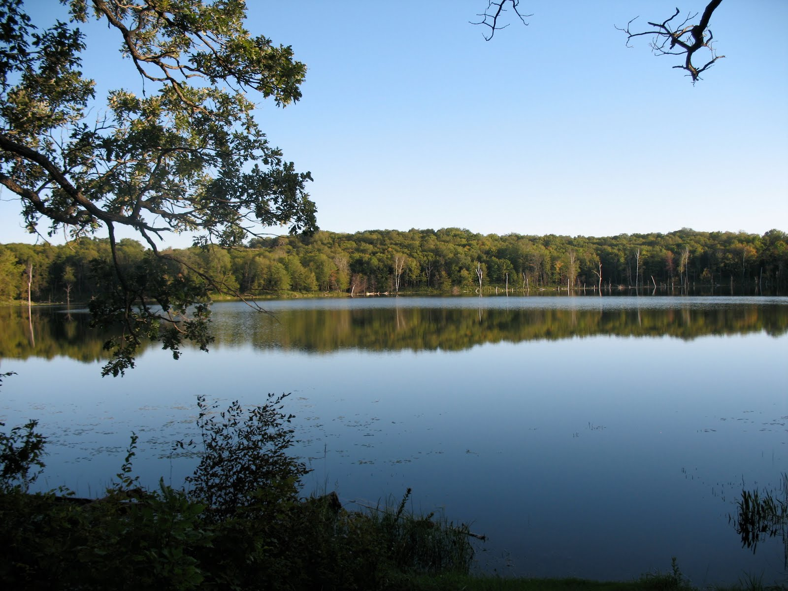 Maplewood State Park - We got into the park in plenty of time to set up cook a meal and take the kayaks out on the lake before dark