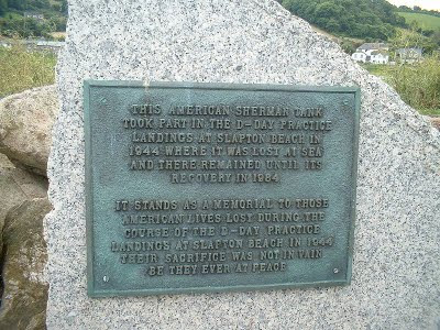 Plaque commemorating killed in Operation Tiger