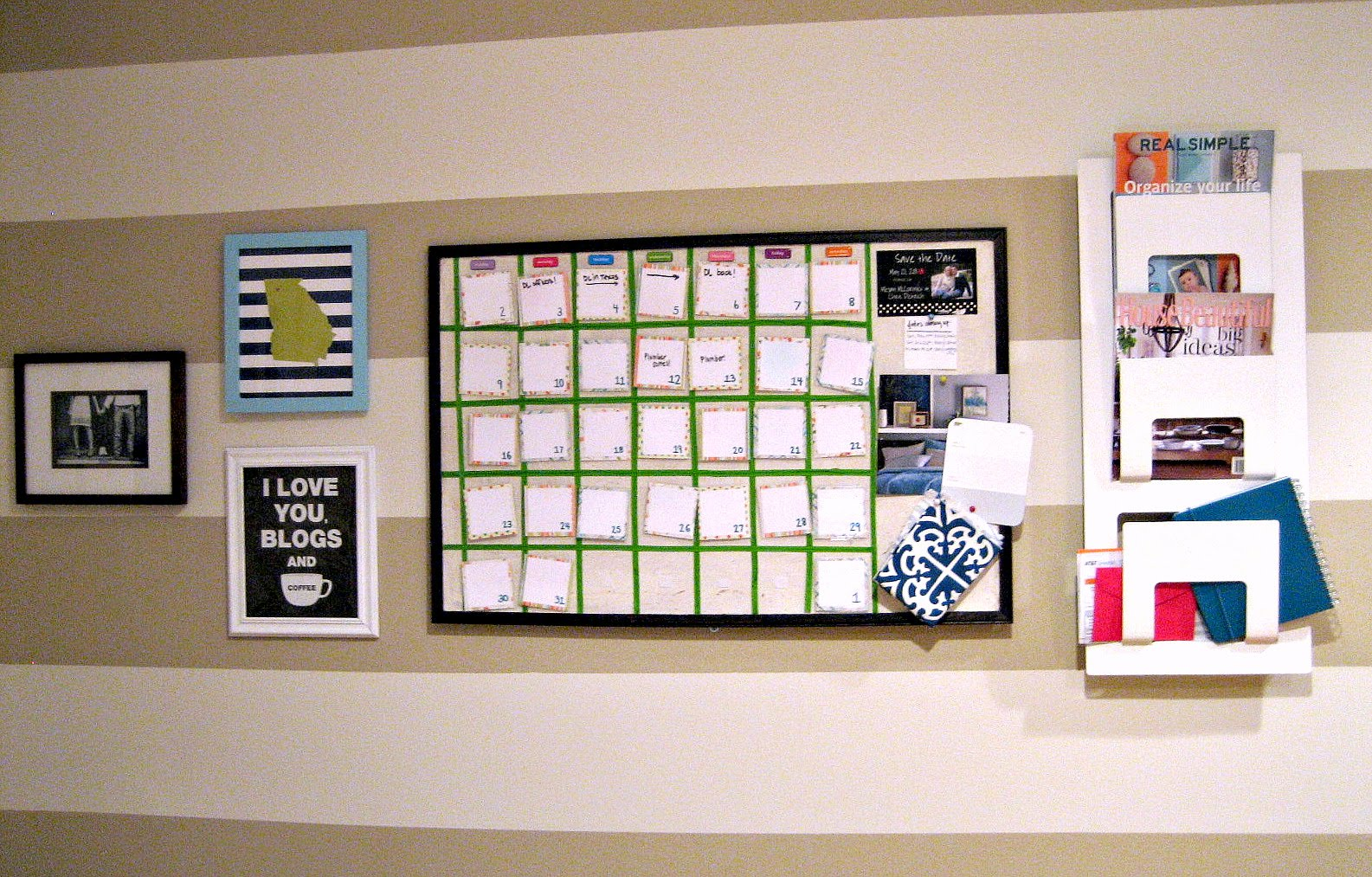 With The Help Of A Magazine/mail Holder From Ikea And A Little Switcharoo  Action With Some Of My Favorite Fun Art From Around The House (the Georgia  Print ...