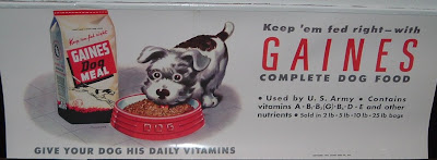 Vintage 1943 ad for Gaines Dog Food