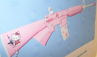 Girls get your hot pink hello kitty ak 47 now