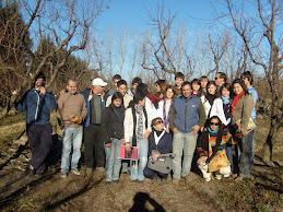 Visita al productor frutihorticola Martín Funes.