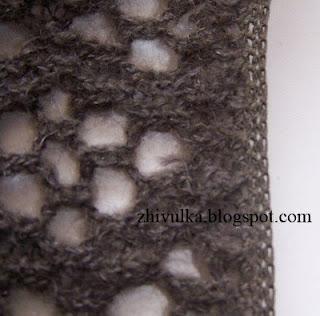 Обработка края вязаного полотна