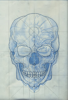 day of the dead tattoo designs on biker kind of a skull motif with some day of the dead motifs that i ...