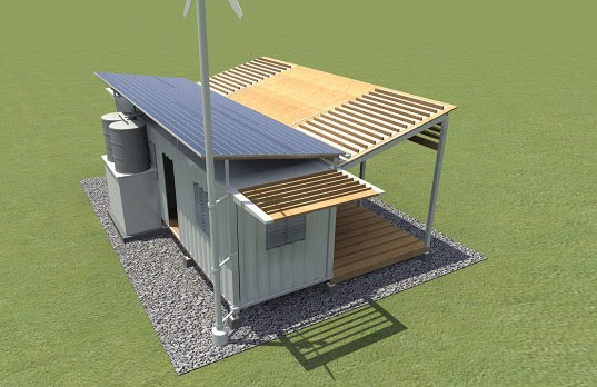 C h foundation shipping container to shelter the million of haitians in need of housing - Container home foundation ...