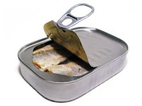 Stock image - sardine can