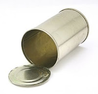 Stock image - cylindrical can