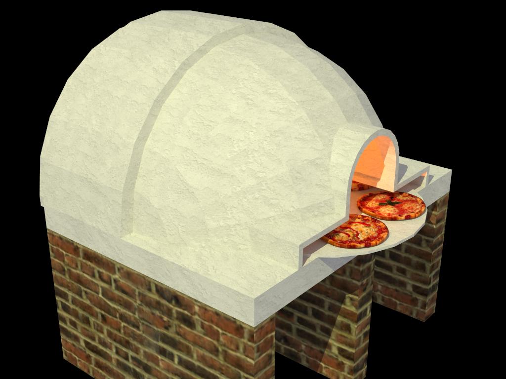 Dise os etc horno para pizza a la le a - Como hacer pizza en horno de lena ...