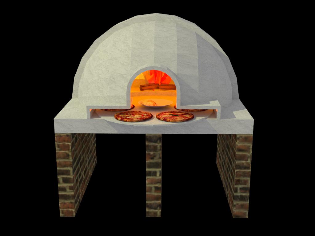 Dise os etc horno para pizza a la le a - Hornos a lena para pizza ...