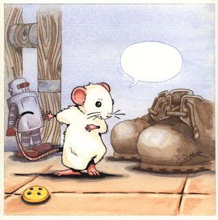 Ilustración infantil la ratona presentándose, hecha por ªRU-MOR