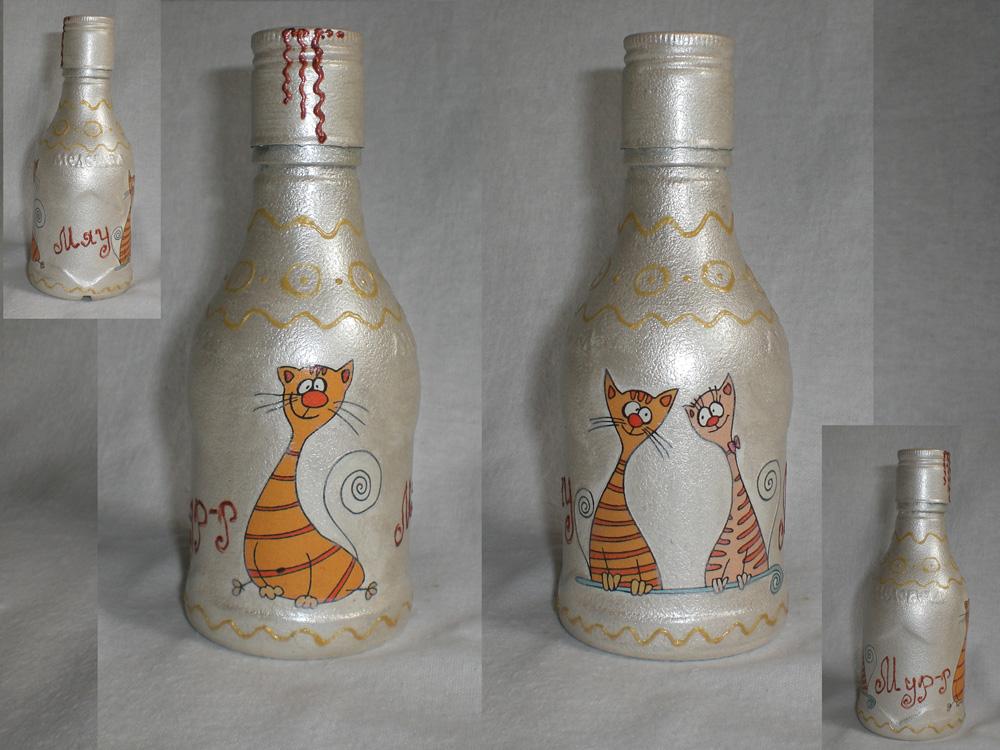 Декор бутылки своими руками фото