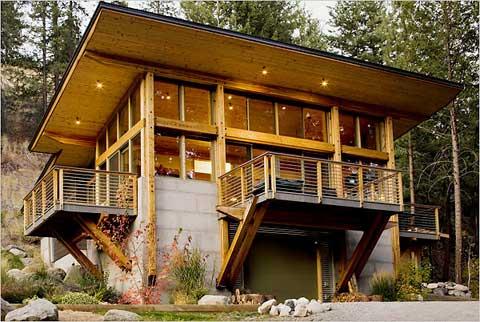 Modern Log Cabins A Druble Wall