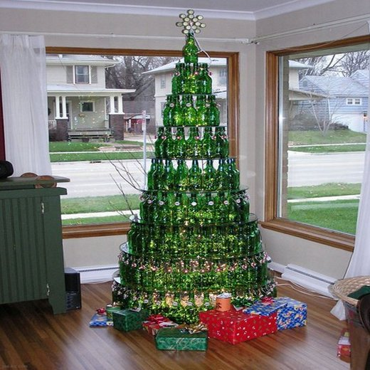 bottle recycled bottle christmas tree