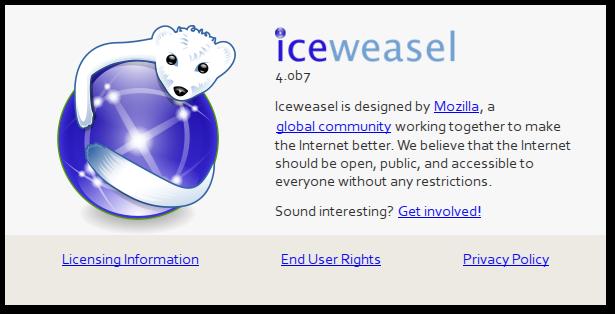 Iceweasel unter debian 7