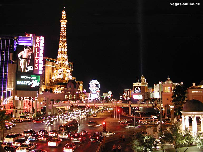 las vegas strip at night wallpaper. The Las Vegas strip at night