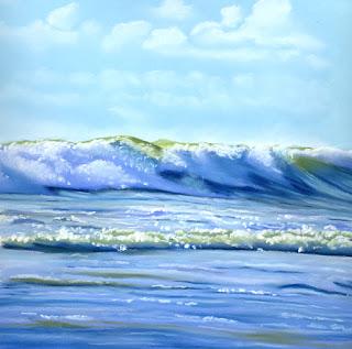ocean pastel painting