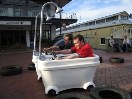 Race in motorized bathtub: 12