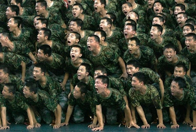soldiers having fun