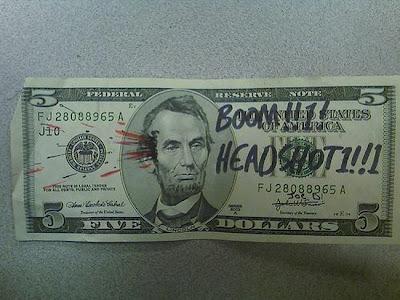 dollar bill drawing