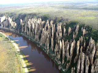 Lena's Stone Forest in Russia