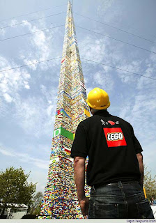 The world's tallest Lego tower