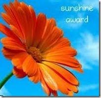 Sunshine award (tenemos 2)