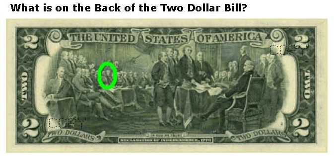 dollar bill back side. dollar bill back.