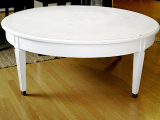 Sweet Tree Furniture Round Shabby Chic Coffee Table
