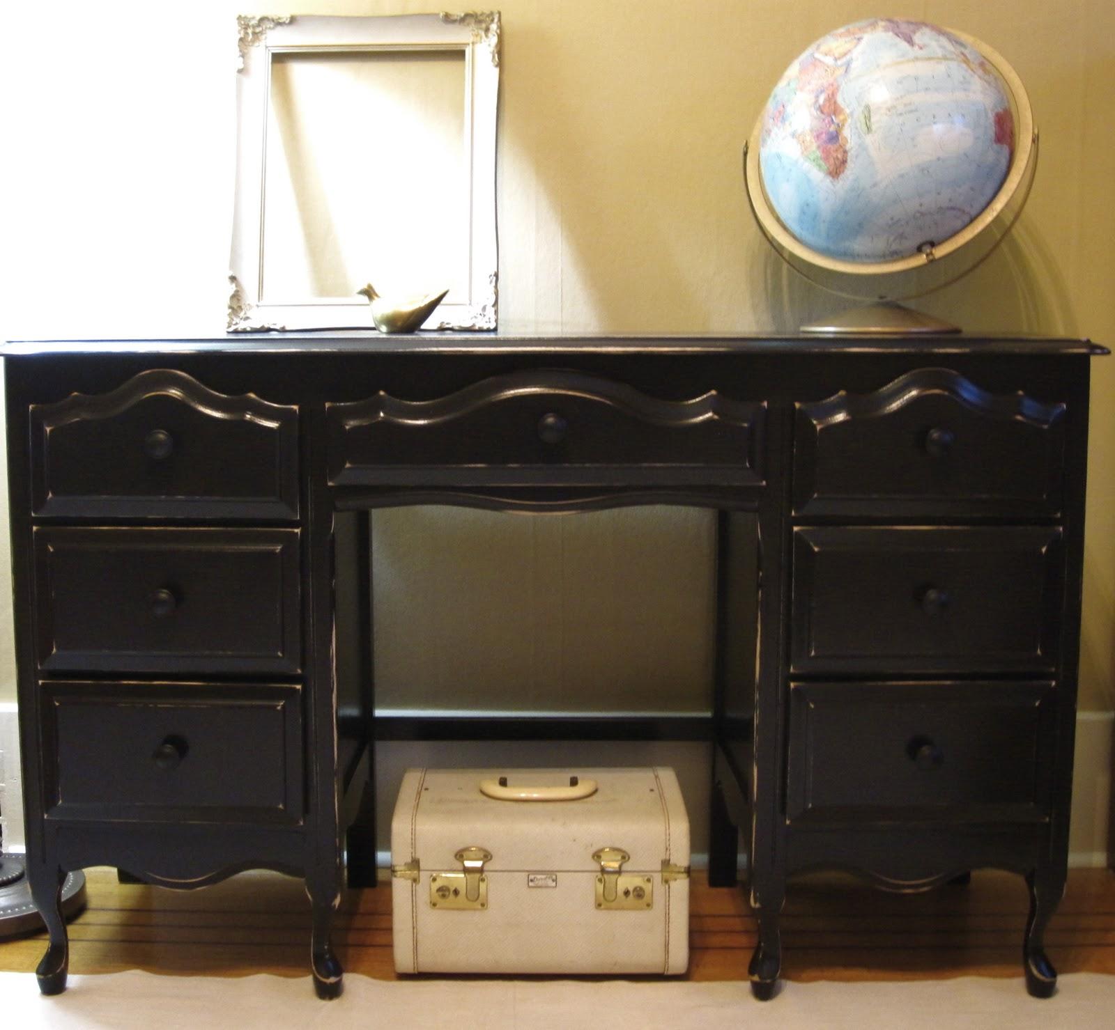 Superieur Black French Provincial Desk