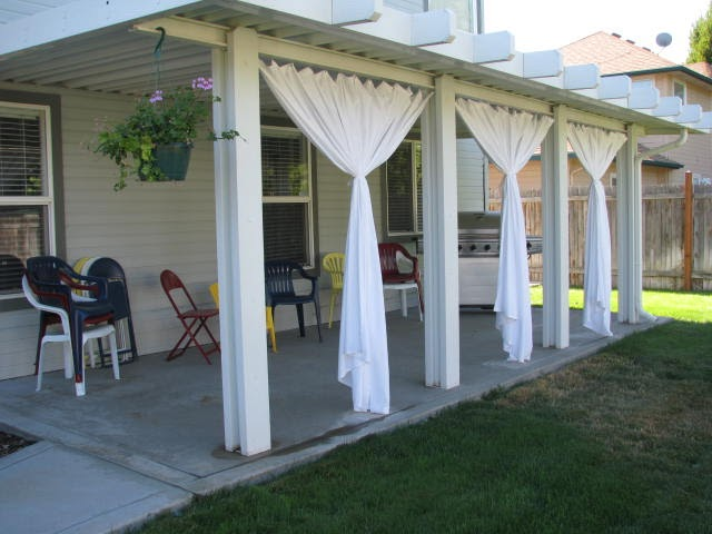 everyday expressions patio revamp stage 2 outdoor curtains tutorial - Patio Curtains