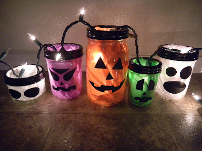 crafts for kids halloween jars-a tutorial plus down loadable file
